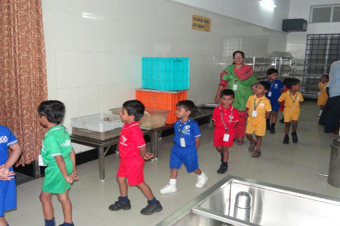 Nursery Students visit to Foodcourt