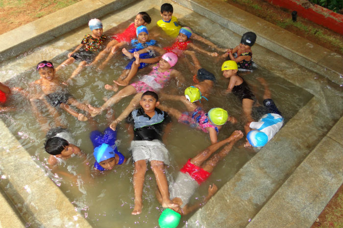 Nursery Children in Water Pool Area