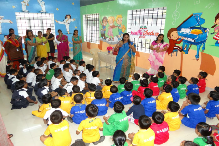 Nursery Students Health Checkup & Awareness